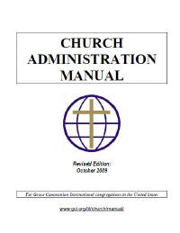 cover of Church Administration Manual