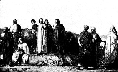 disciples in a grainfield