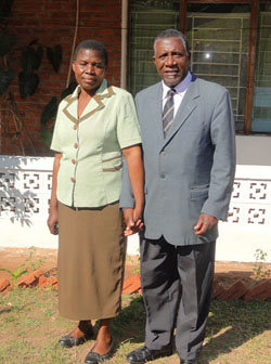 Pastor Nihaka and his wife