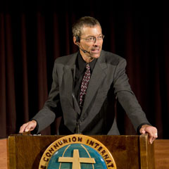 Rev. Dr. Elmer Colyer presenting at the 2011 Canadian National Conference (GCI)