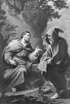 the devil tempting Jesus