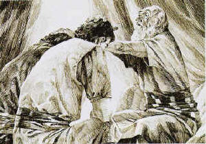 Jacob blessed Joseph's sons, Ephraim and Manasseh