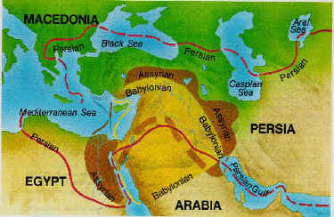 Map of Assyrian, Babylonian & Persian Empires
