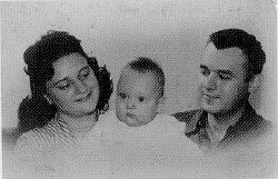 Joseph Tkach, Jr., as a baby, with his parents