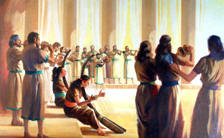 Depiction of heavenly worship by Ken Tunell